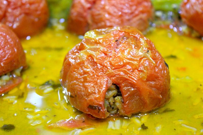 Stuffed Tomatoes in Greece