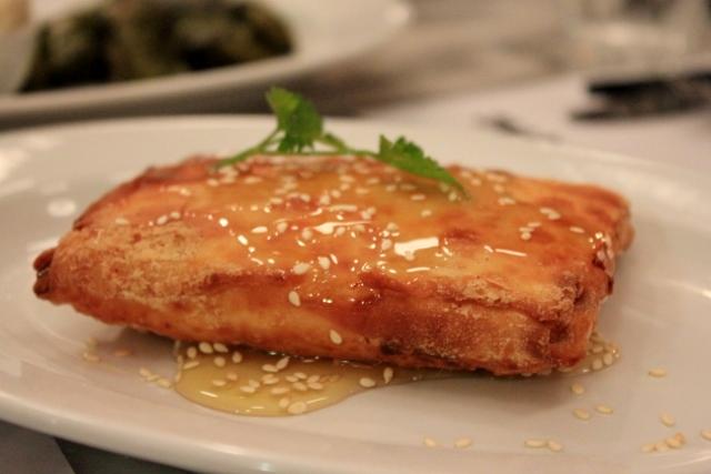 Traditional Greek Food: Saganki Cheese