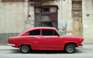 Vintage Car in Cuba