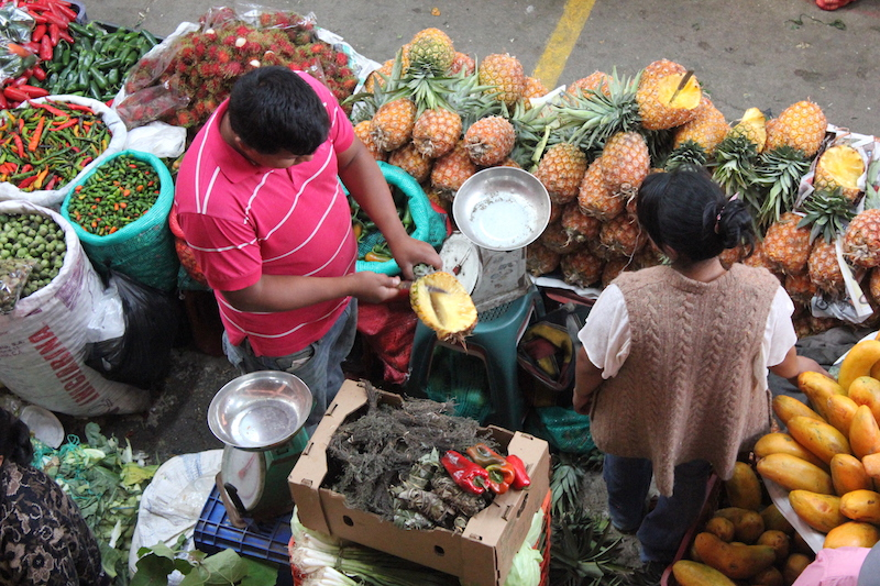 Vegetables for sale at Chichi Market at Chichicastenango Guatemala
