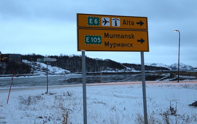 Russian Sign in Kirkenes, Northern Norway