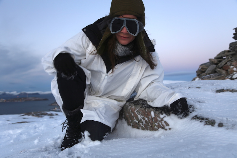 Annette White on a Polar Expedition with Hurtigruten in Hammerfest Norway