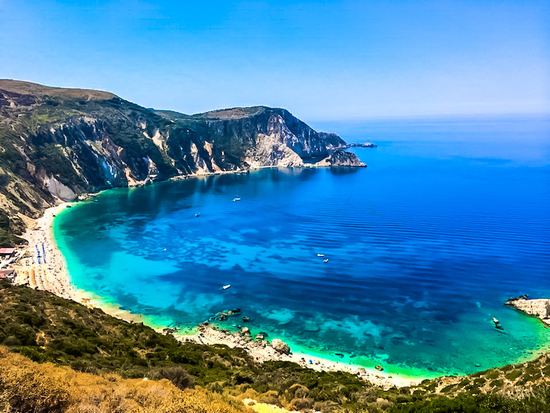 The beach in Kefalonia Island Greece