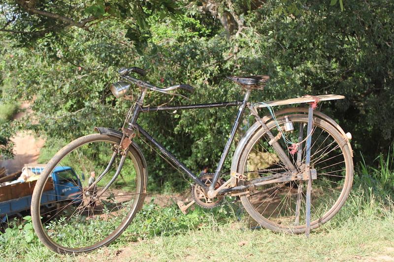 Bicycle on the Hiriwaduna Village Trek in Sri Lanka