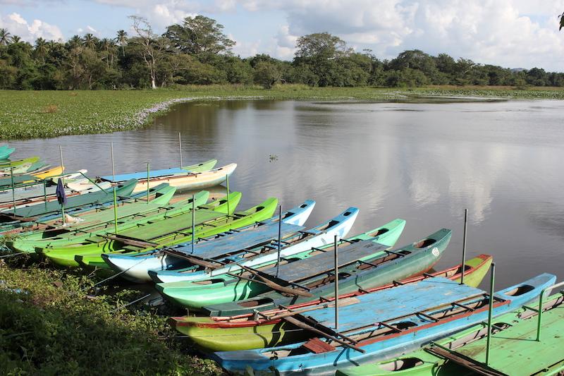 Boats on the Hiriwaduna Village Trek in Sri Lanka
