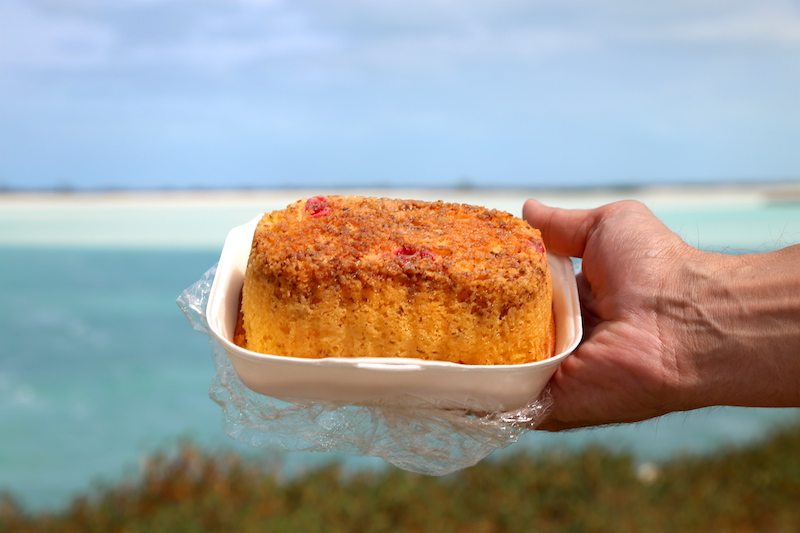 Rum cake at Mom's Bakery: Exuma Bucket List: Great Things to Do on the Prettiest Bahamas Islands