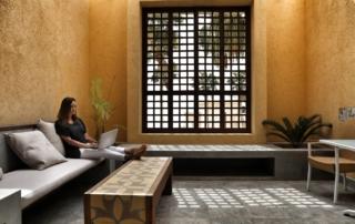 Annette White at the Kempinski Hotel Ishtar Dead Sea in Jordan
