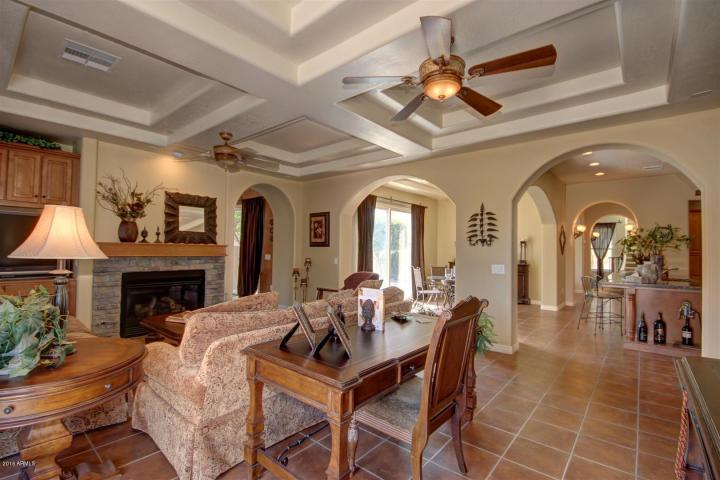 Annette White Arizona Home - Family Room