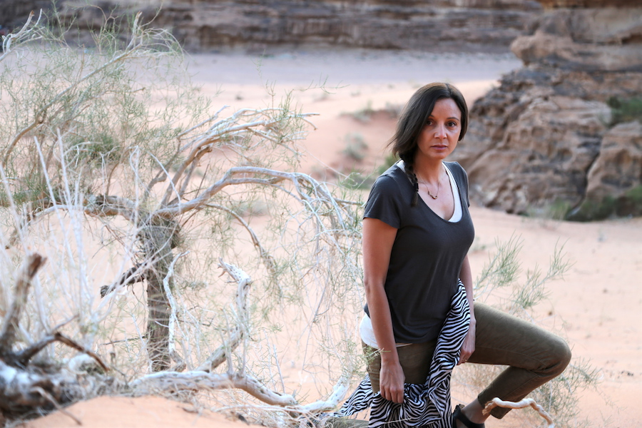 Annette White in the Wadi Rum desert of Jordan