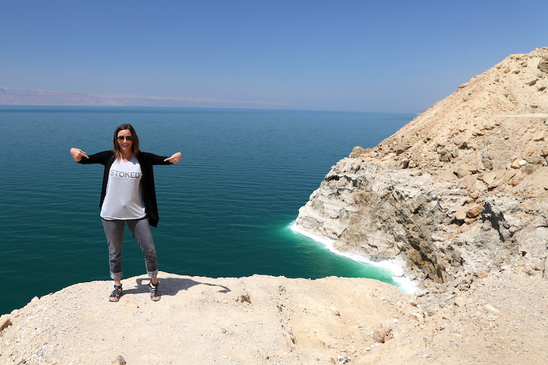 Annette White at The Dead Sea in Jordan: Overcoming Anxiety to Live Your Dream: 8 Tips to Facing Your Fears