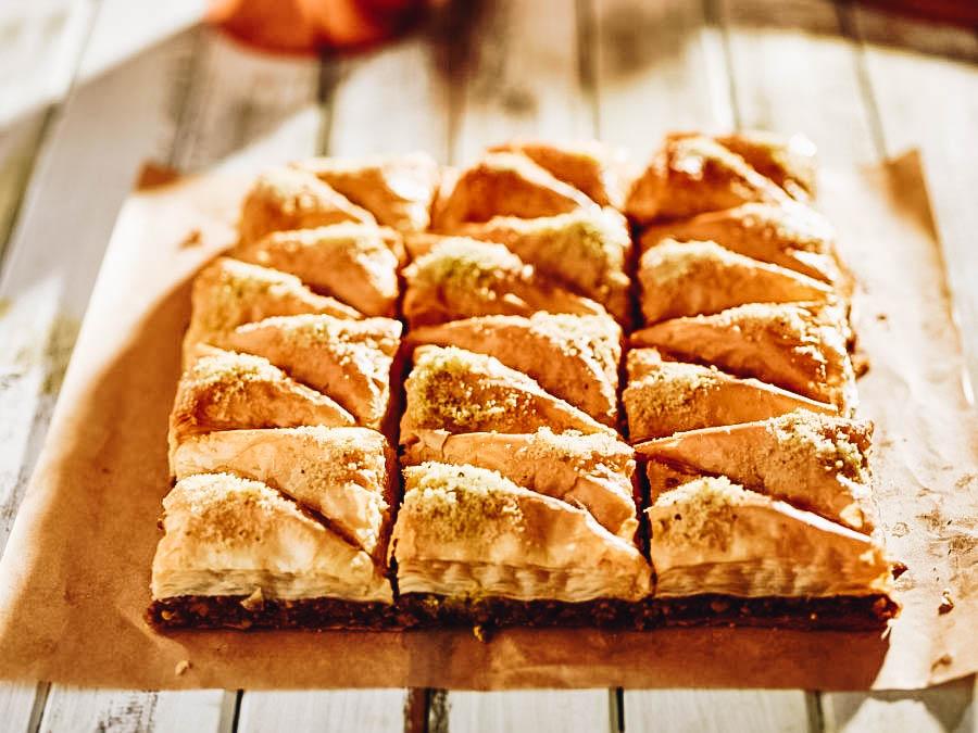 Layered pastry Baklava (Greek Dessert)