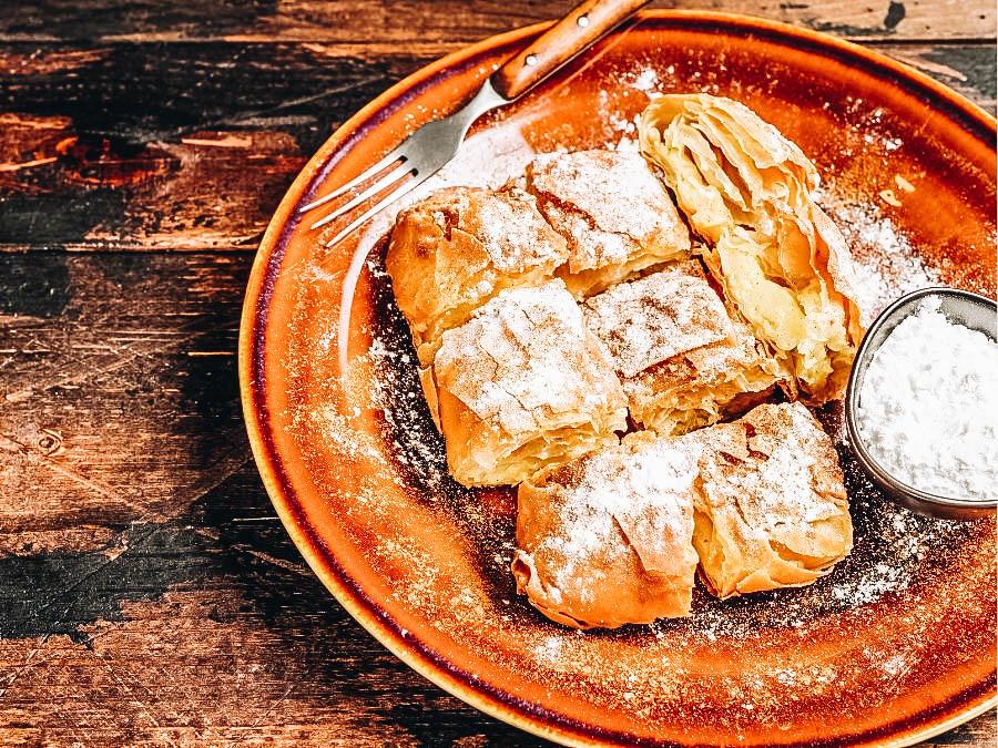 Greek Bougatsa dessert