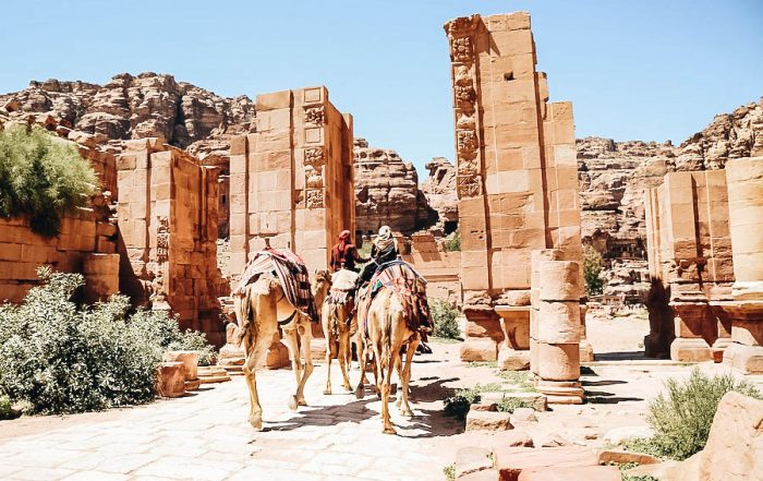 Colonnaded Street in Petra