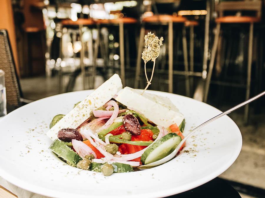 Greek salad or horiatiki salad