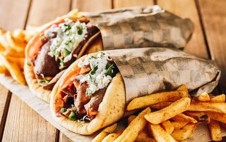 Gyros served with potato fries