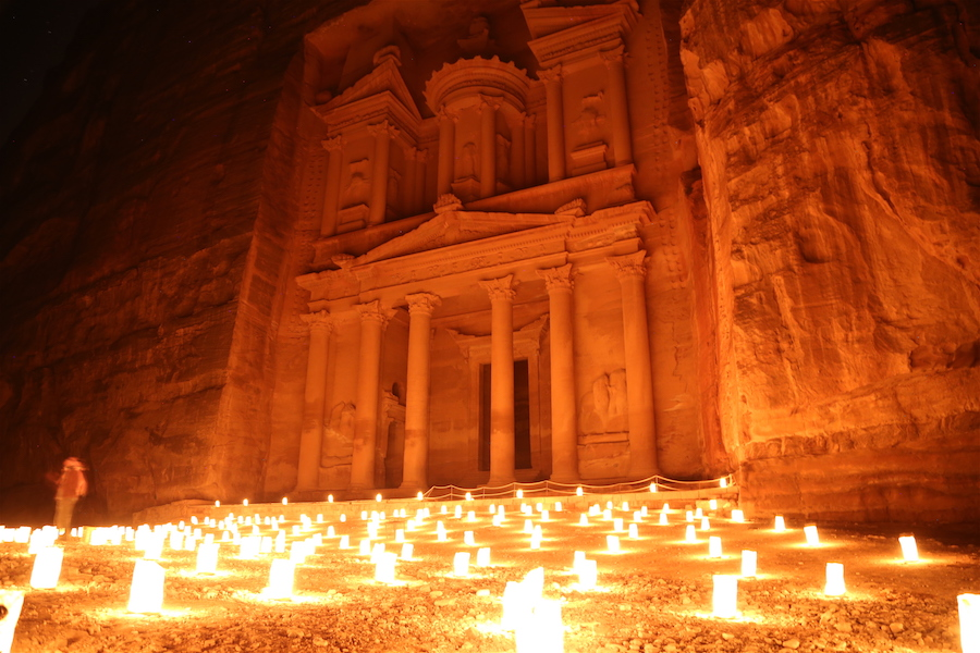Petra at Night in Jordan: Top Historical Places: 10 UNESCO World Heritage Sites Around the World