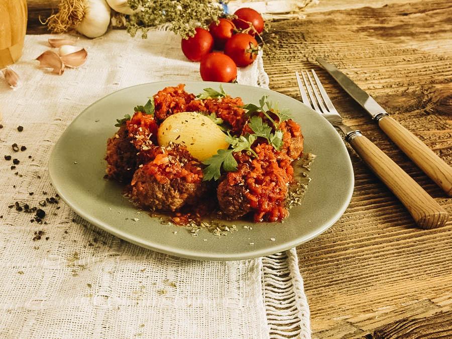 Keftedes (Greek meatballs) a famous Greek appetizer