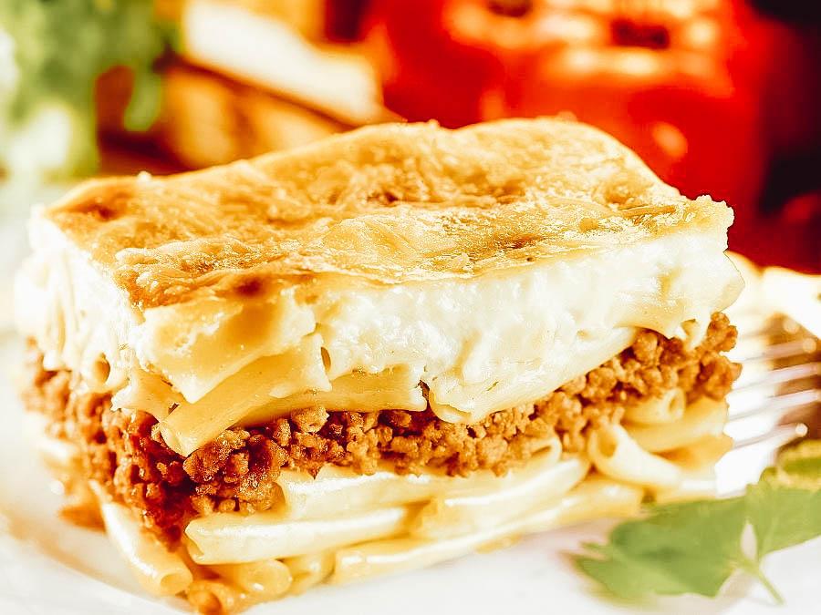 Greek baked pasta Pastitsio