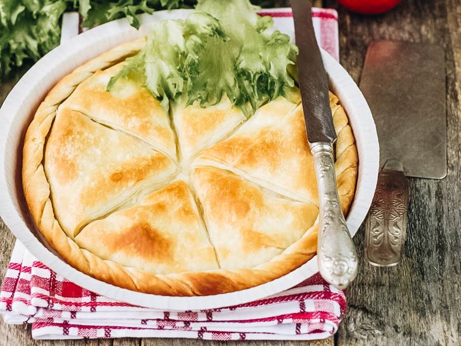 A Greek pastry Tiropita