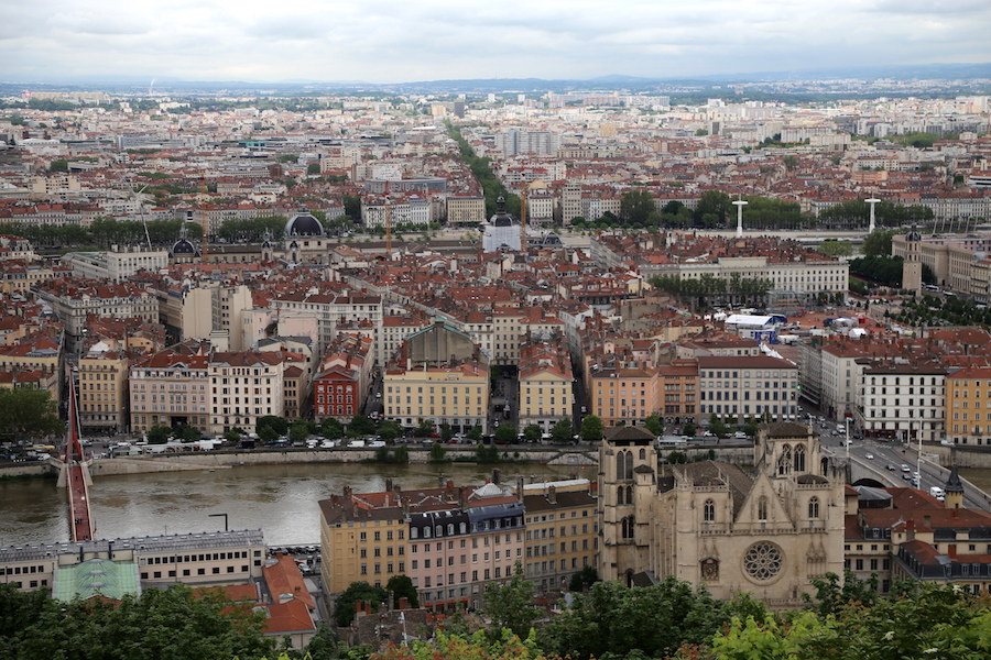 The perfect view of the city of Lyon