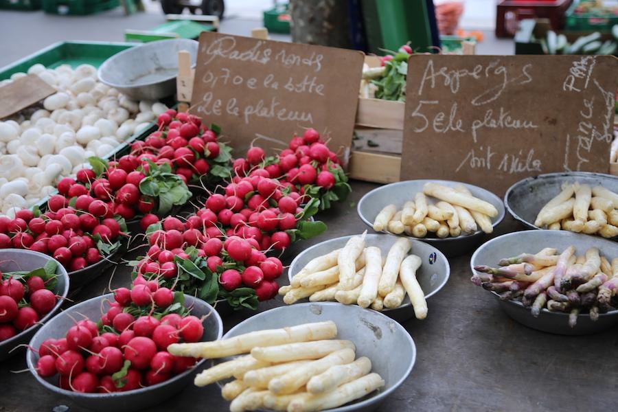 Vegetables at the Market in Lyon, France