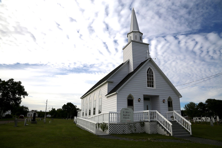 white steepled church: Canada's Cape Breton Island: 9 Best Stops While Driving the Cabot Trail in Nova Scotia