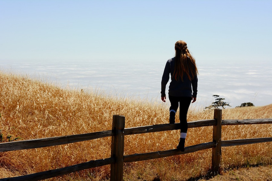 Climbing a fence