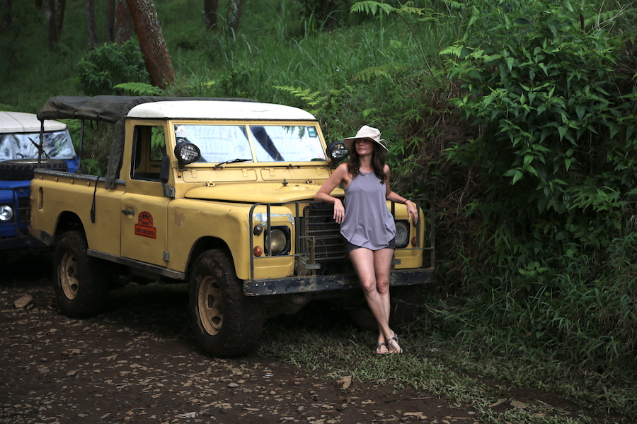 Annette White Off-roading in Bandung, Indonesia