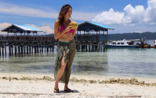 Annette White in Raja Ampat, Indonesia