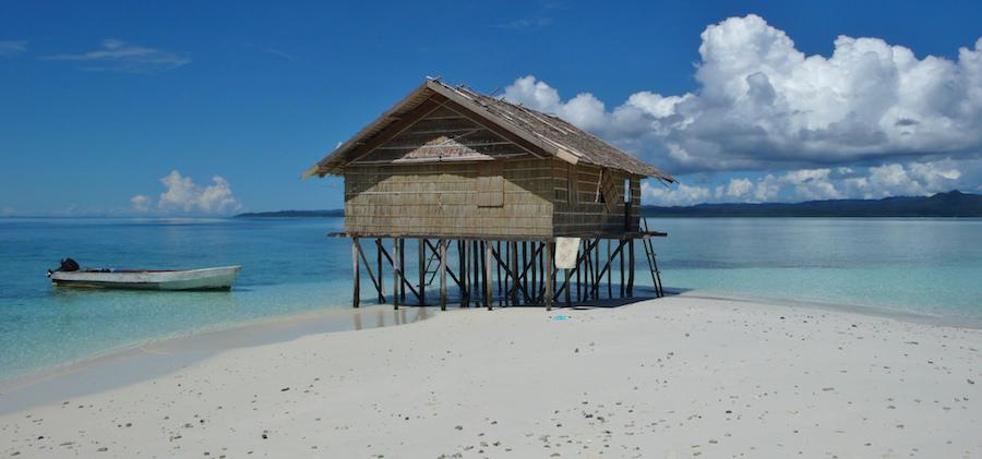 Kri Island Floating Sand in Raja Ampat, Indonesia