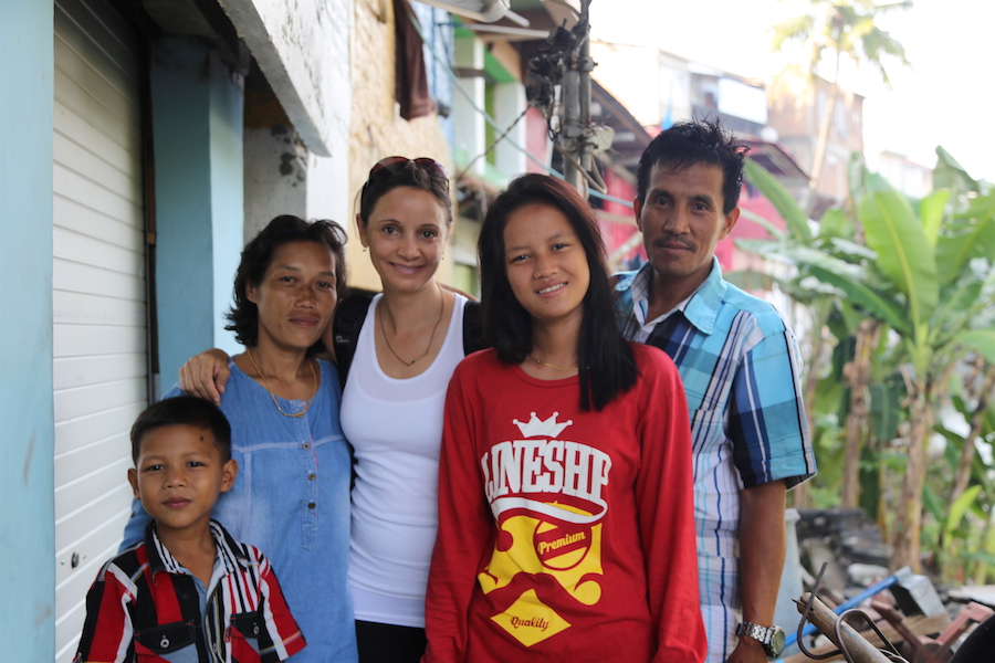 Annette White meeting the people of Indonesia