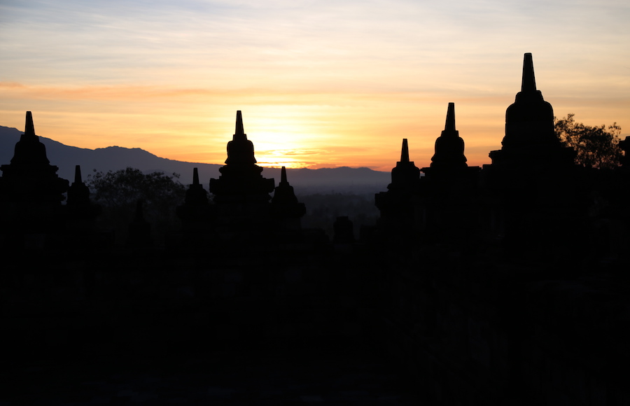 Sunrise at Borobudur Temple Yogyakarta Indonesia: Top Historical Places: 10 UNESCO World Heritage Sites Around the World