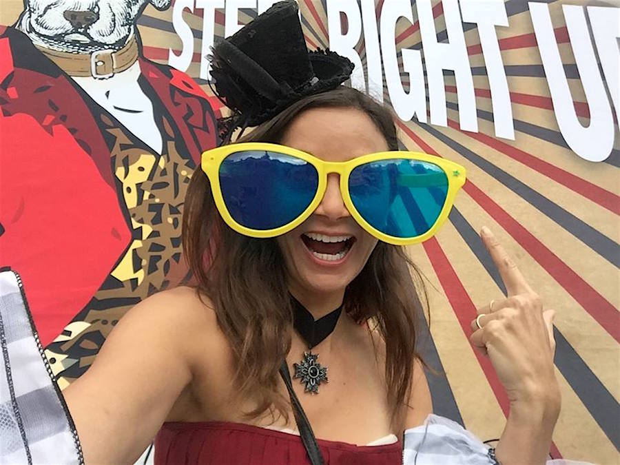 Annette White at the Lagunitas Beer Circus in Petaluma