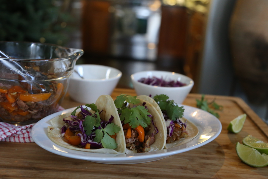 Jackfruit plant-based tacos by Purple Carrot