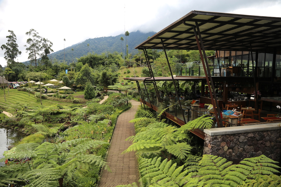 The restaurant at Dusun Bambu Family Park in Bandung, Indonesia