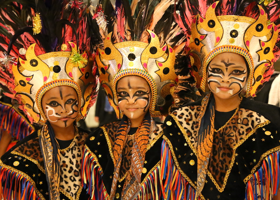 The decorated children on Yogyakarta in Indonesia