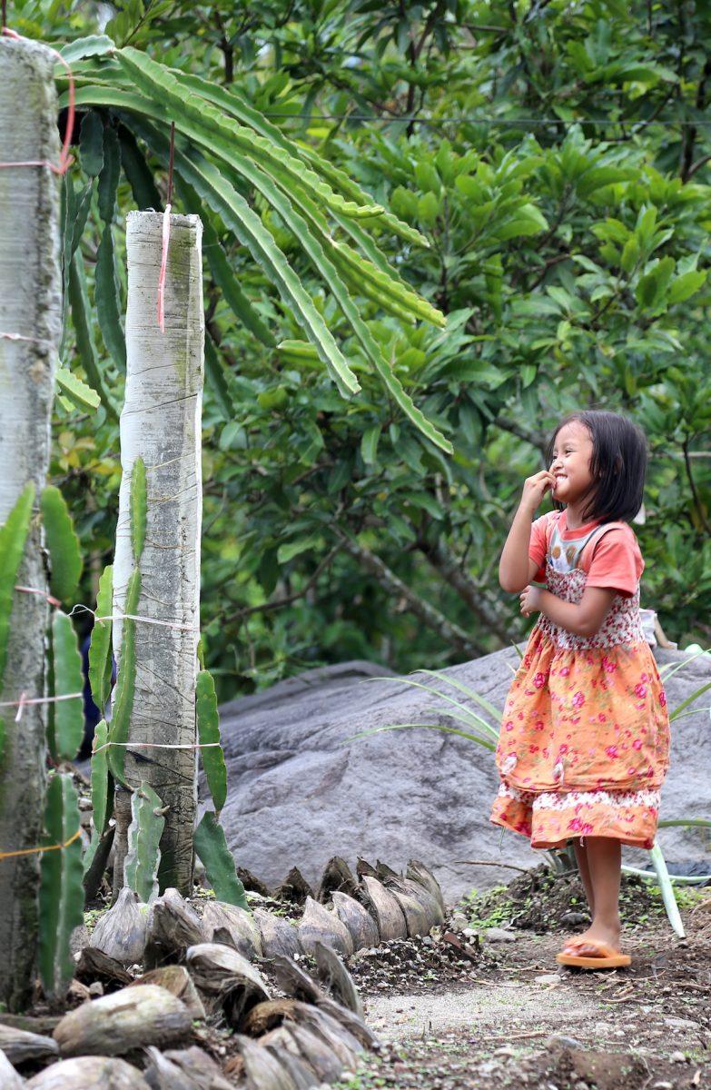A little girl in a village in Yogyakarta