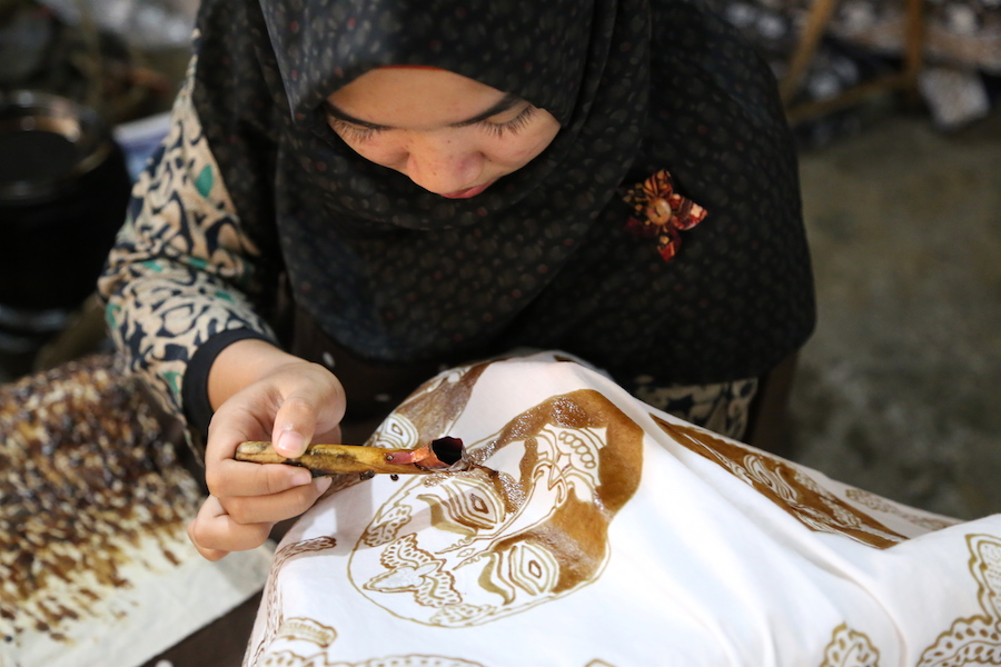 Batik Making in Yogyakarta, Indonesia
