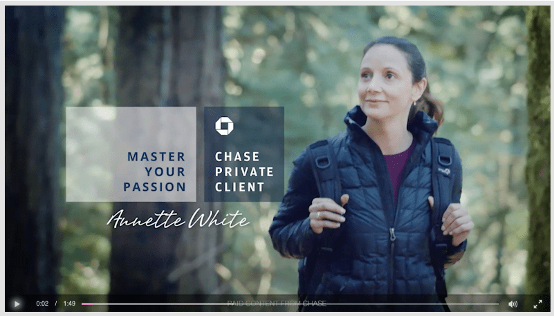 Annette White in a Chase Video Commercial