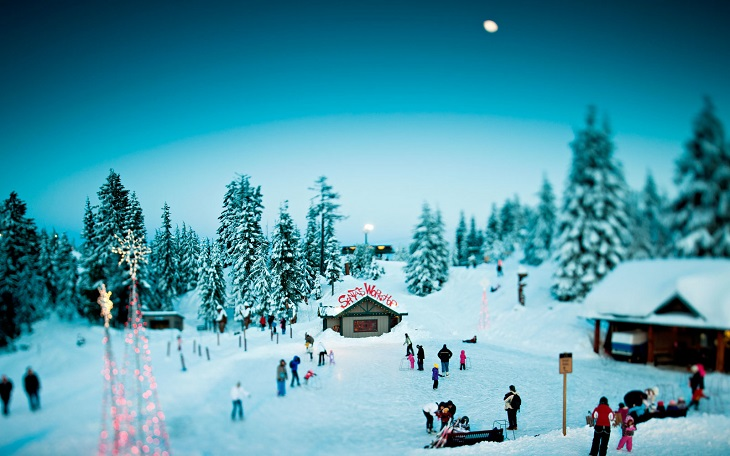White Christmas in Vancouver Canada