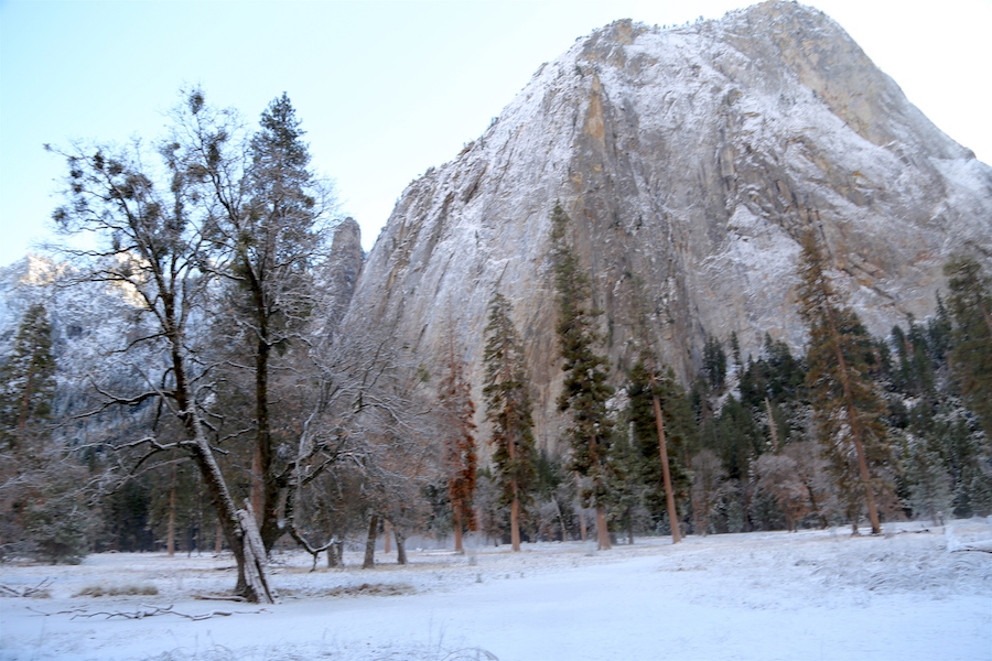 El Capitan in Yosemite Valley National Park in the Winter