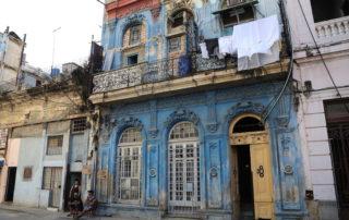 The vintage buildings in Havana, Cuba