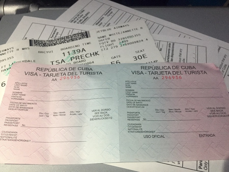 The Visa in Havana Cuba