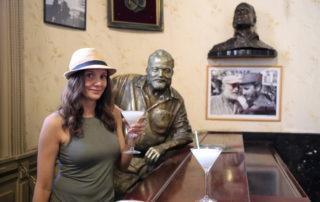 Annette White at Bar Floridita in Havana Cuba