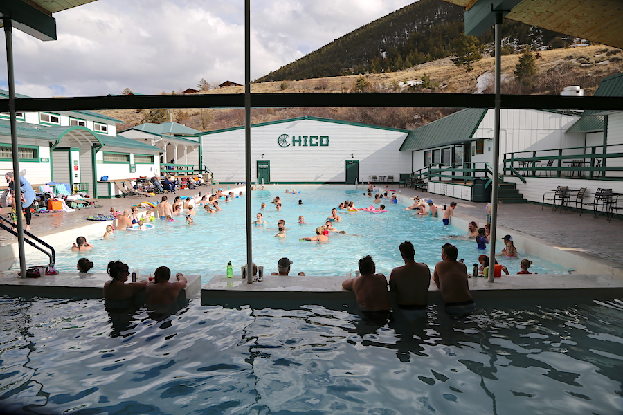 The Chico Hot Springs Pools in Yellowstone Country of Montana