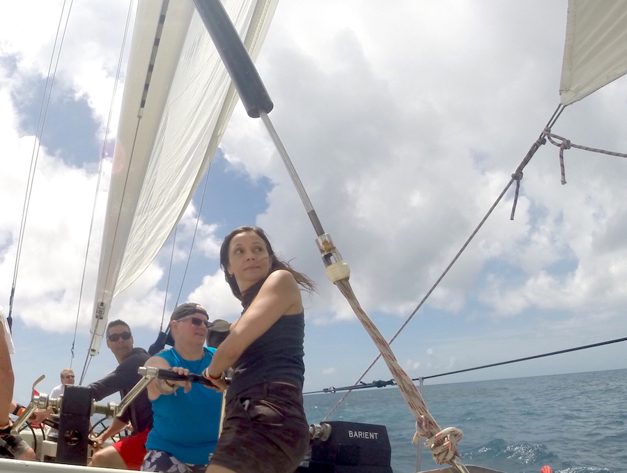 Annette White America's Cup Sailing in the caribbean's St. Maarten