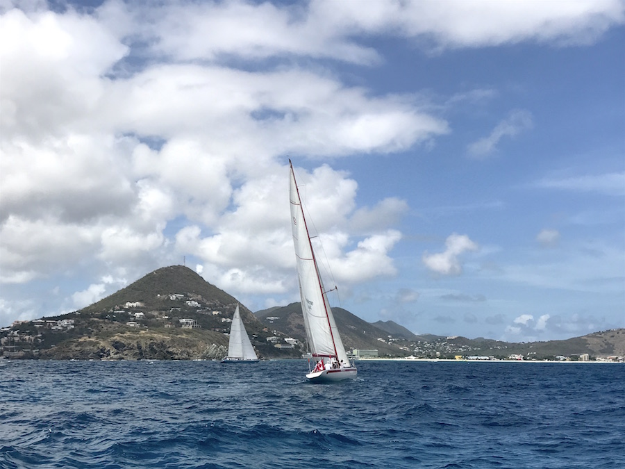 America's Cup Sailing in the Caribbean's St. Maarten