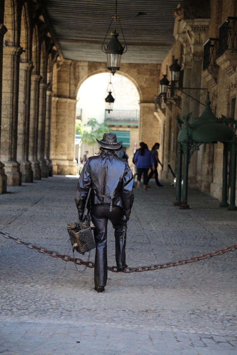 Street performer in Old Town Havana
