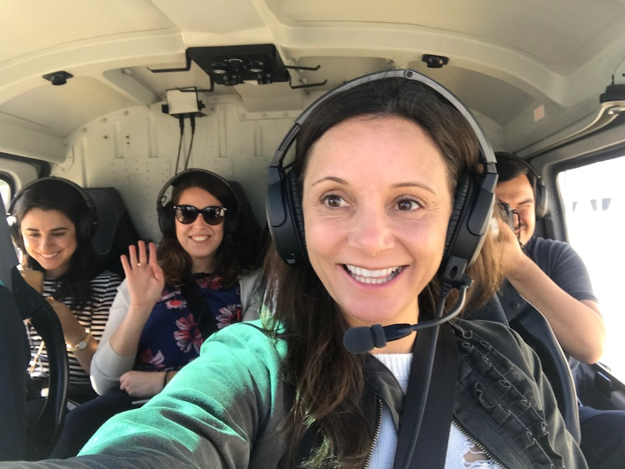 Annette White in a Helicopter | Geneva Bucket List: Top Things to Do in Switzerland's Second Largest City