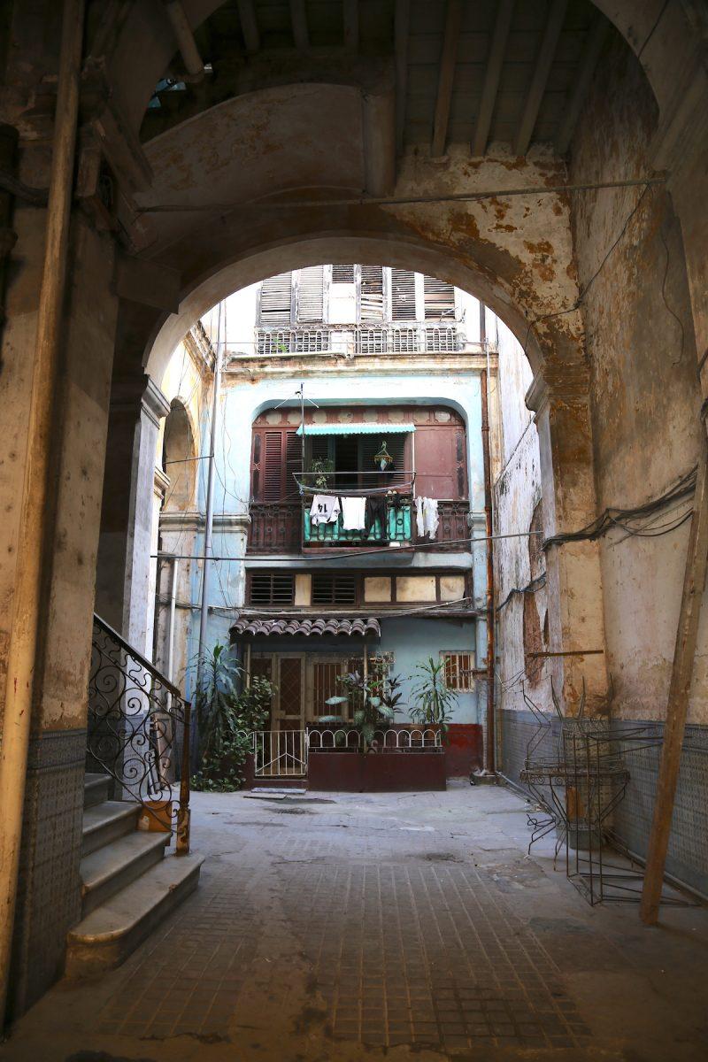A courtyard in Havana Cuba